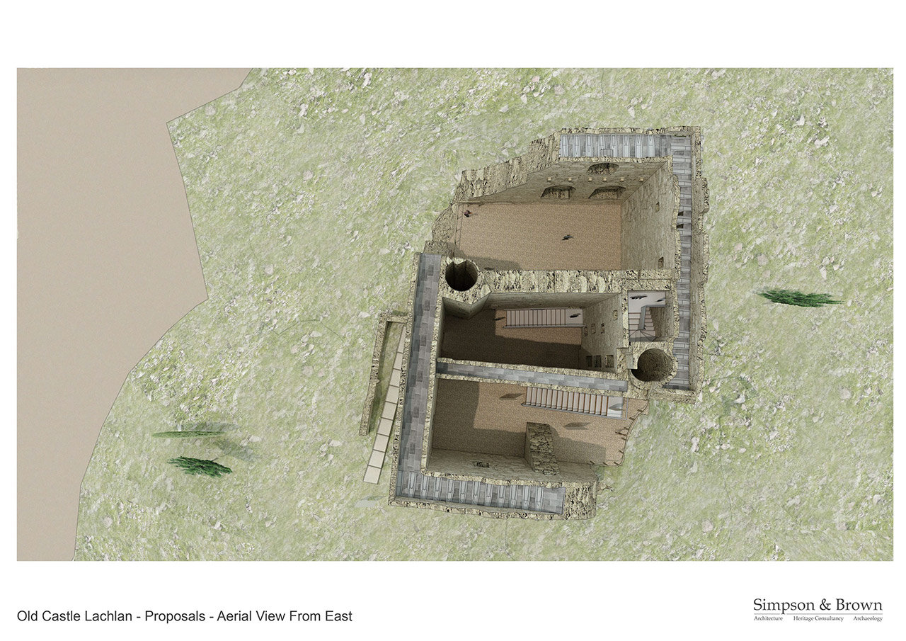 Old Castle Lachlan Proposals Aerial View Looking East