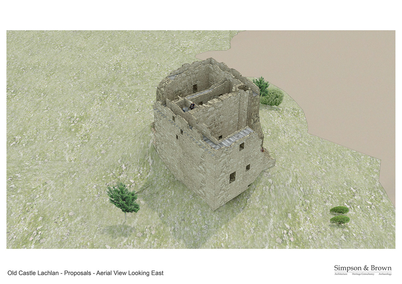 Old Castle Lachlan Proposals Aerial View Looking South