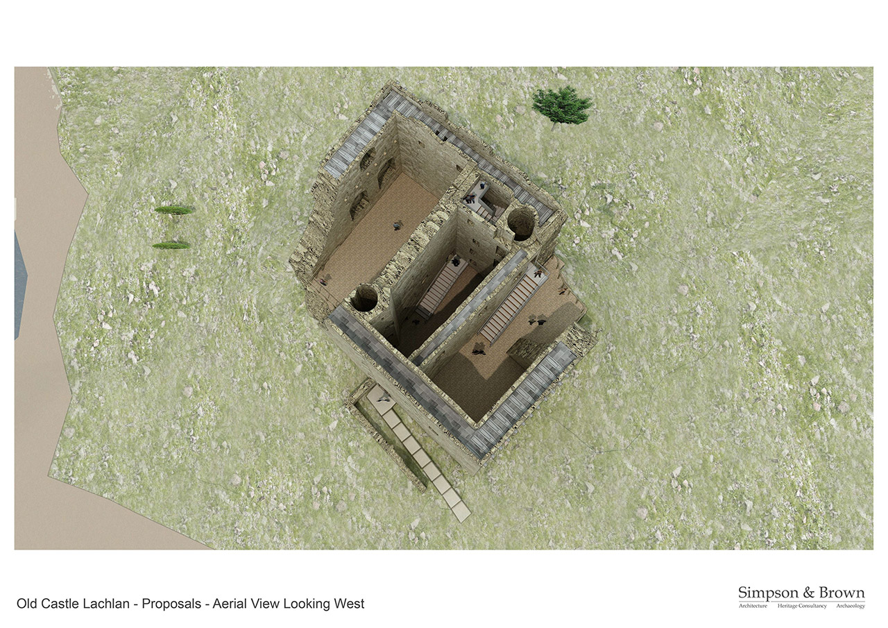 Old Castle Lachlan Proposals Central Courtyard From High Level